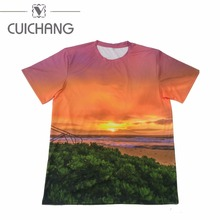 New design custom sublimation full printing polo man t-shirts wholesale