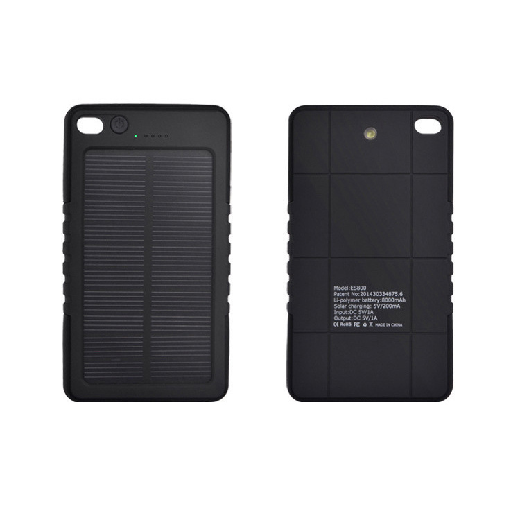2015 New 8000mah Waterproof Solar Power Bank Bateria Externa Travel Solar Charger Powerbank For All Mobile Phone Fast Shipping