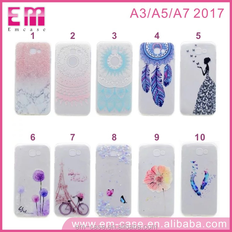 Factory Price TPU Back Phone cover Case for samsung A3 A5 A7 2017 Case Transparent