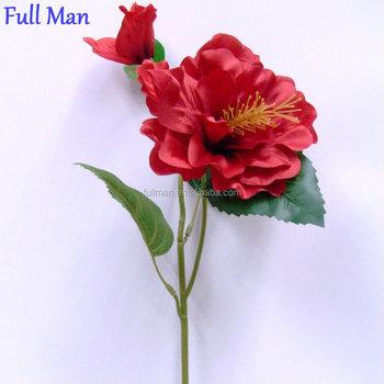 H55cm red artificial silk flowers single stem hibiscus flowers buy h55cm red artificial silk flowers single stem hibiscus flowers mightylinksfo