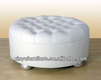 Unique Design Round Seat Ottoman Sofa With Buttons Top