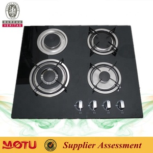 Portable glass table 4 burners gas cooker/gas hob