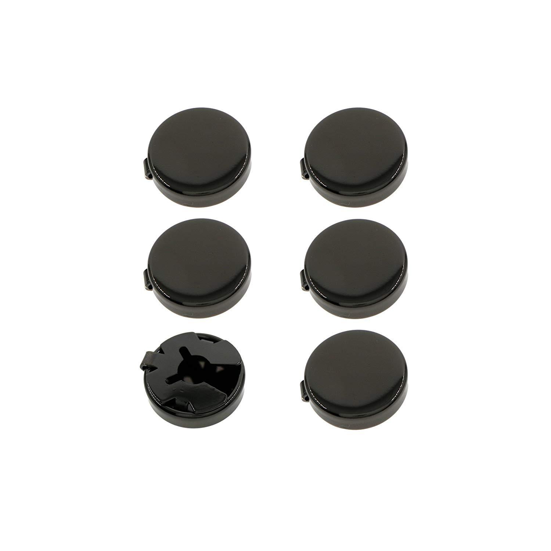 5e3cd865b1e Get Quotations · Silver,Gun Black Round Cuff Button Cover Cuff Links for  Wedding Formal Shirt 6pcs/