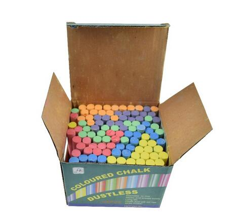 100 pcs small bright color school dutless chalk for blackboard