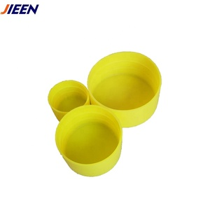 204mm Plastic Straight Pipe End Cap for Threaded or Scaffolding Tubes Rods and Fittings