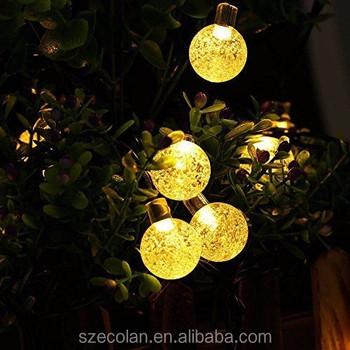 solar christmas string lights bubble ball led wedding festival led lampion