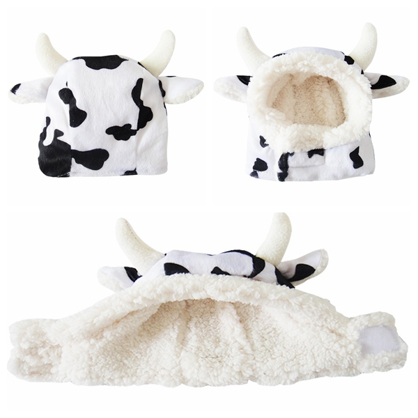 463e7b54c77 Get Quotations · 10pcs set Cartoon animal Party Cow-style hat Pet cosplay  Dog outdoor dairy cow