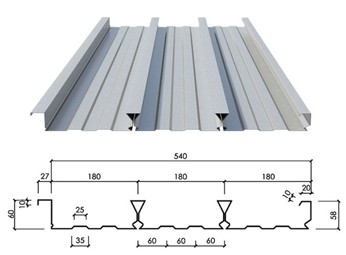 Galvanized stainless metal composite floor deck 3 buy for Roof decking thickness
