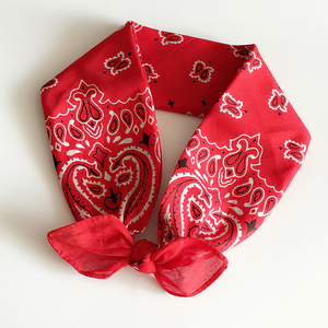 One Stop Fashion Accessories Suppliers Elegant Handmade Cotton Bandana Paisley Fabric Hair Wrap Headband with Bow Knot