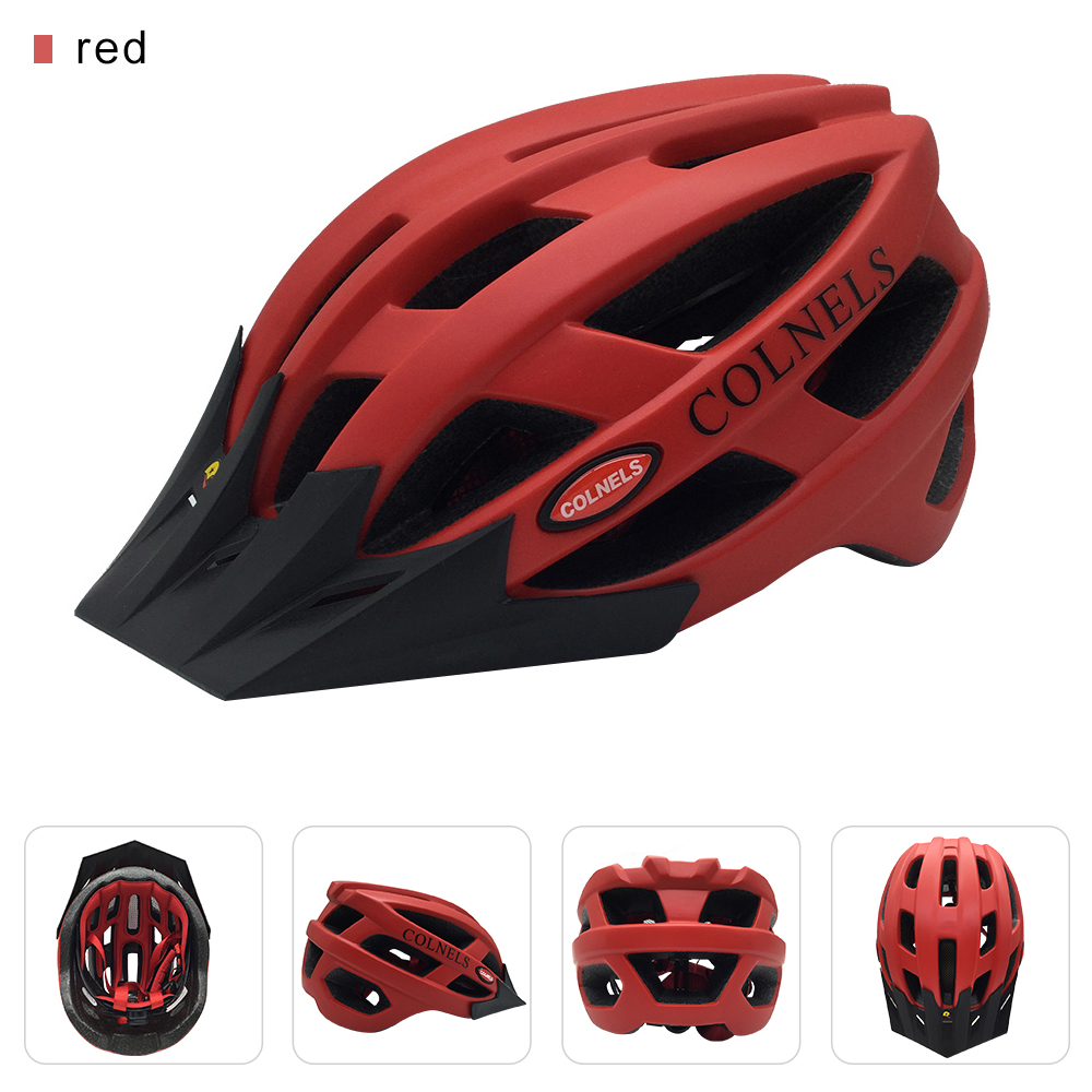 OEM ODM Custom Bike Helmet Manufacturer 28 Air Vents Dirt Bike Helmet with Sun Visor Road Cycling Outdoor Helmet