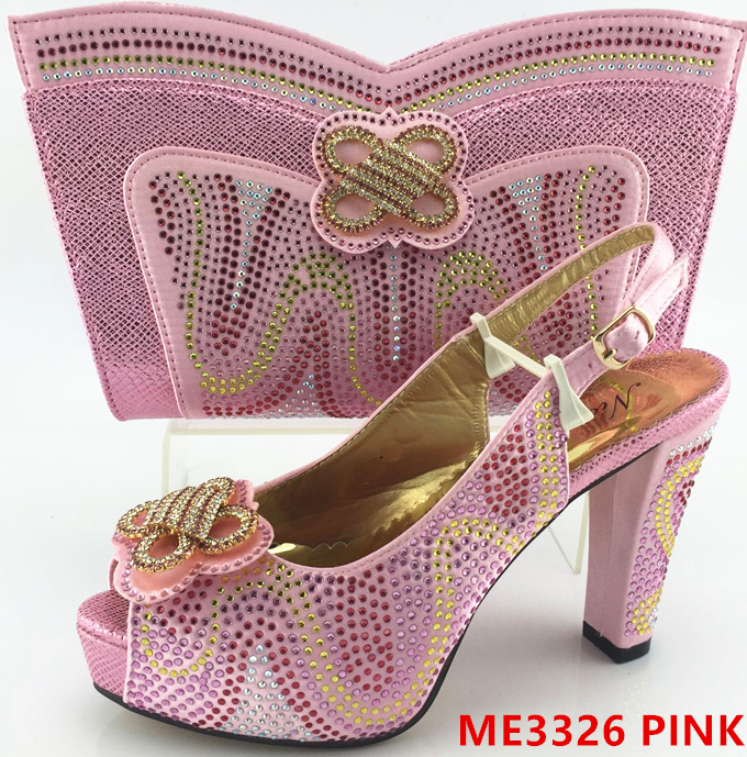 for african Fashion bag party set wedding and female shoes TPT7q