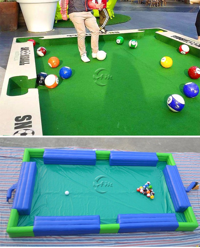Indoor giant human billiards game snooker soccer ball for Convert indoor pool table to outdoor