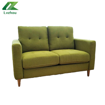 Household two seats sofa set with wooden legs