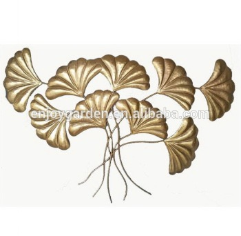 Decorative Metal Gold Leaf Wall Art