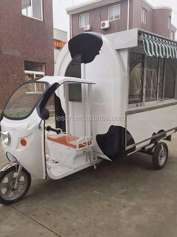 Motorcycle Van Ice Cream Cart Mobile Food Vehicle Tricycle