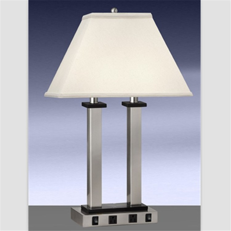 Lowest Price Usa Cul Power Outlet Table Lamp With Usb Outlet For ...