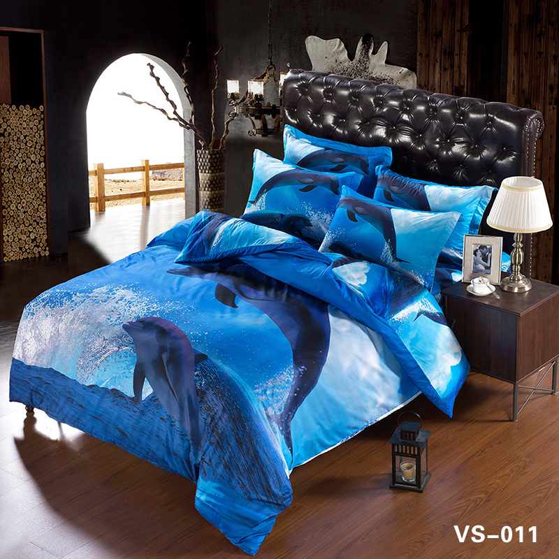 Beautiful Bed Cover Set White Snow Wolf 3d Bedding Set