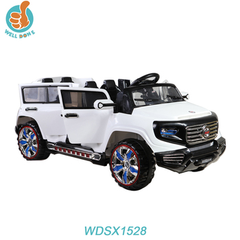 Wdsx1528 Hot Ing Electric Toys 4 Seater Kids Car With Doors Open