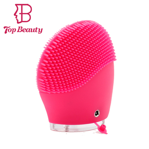 Hot sale Electronic rechargeable silicone deep cleansing facial brush and massager