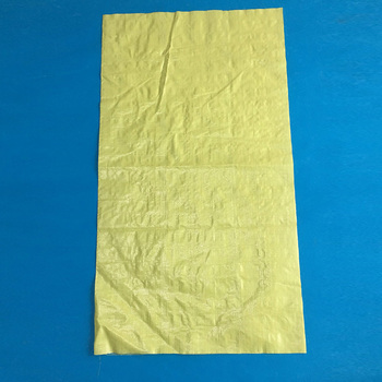 Custom grain bags 50kg pp woven yellow wheat rice corn almond flour packaging bag