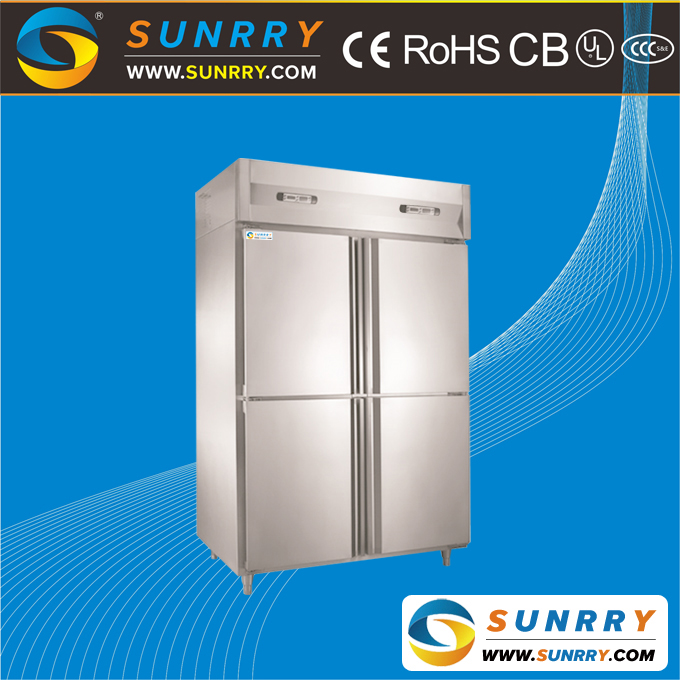 Four Doors Commercial Supermarket Stainless Steel Refrigerated Cabinets Freezer Used for Sale (SY-RC930DL)