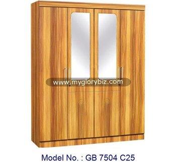 Simple Bedroom Wardrobe Design bedroom home furniture 4 doors wardrobe with mirror designs,simple