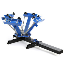 Screen printing 6 color silk screen printing machine with stand 6 Color