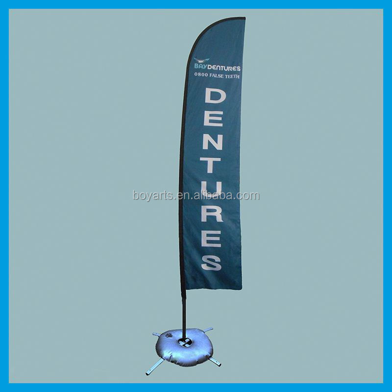 custom outdoor sail banner stand