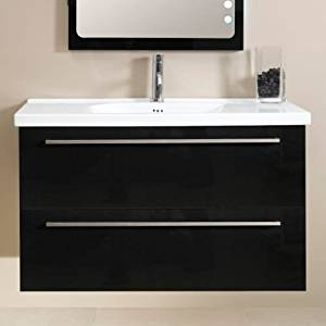 Get Quotations Nameeks Fl7c Iotti 40 1 8 Wall Mounted Vanity Set With Wood Cabinet