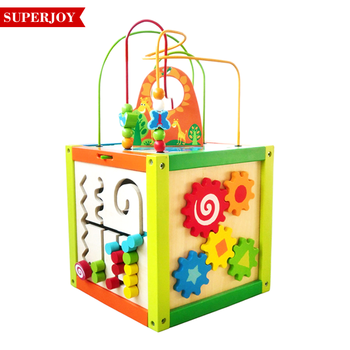 New Design Wooden Activity Cube Toy Childrens Maze Cube Wooden Letter Bead Sj5110 Buy Wooden String Beads Toy Product On Alibabacom