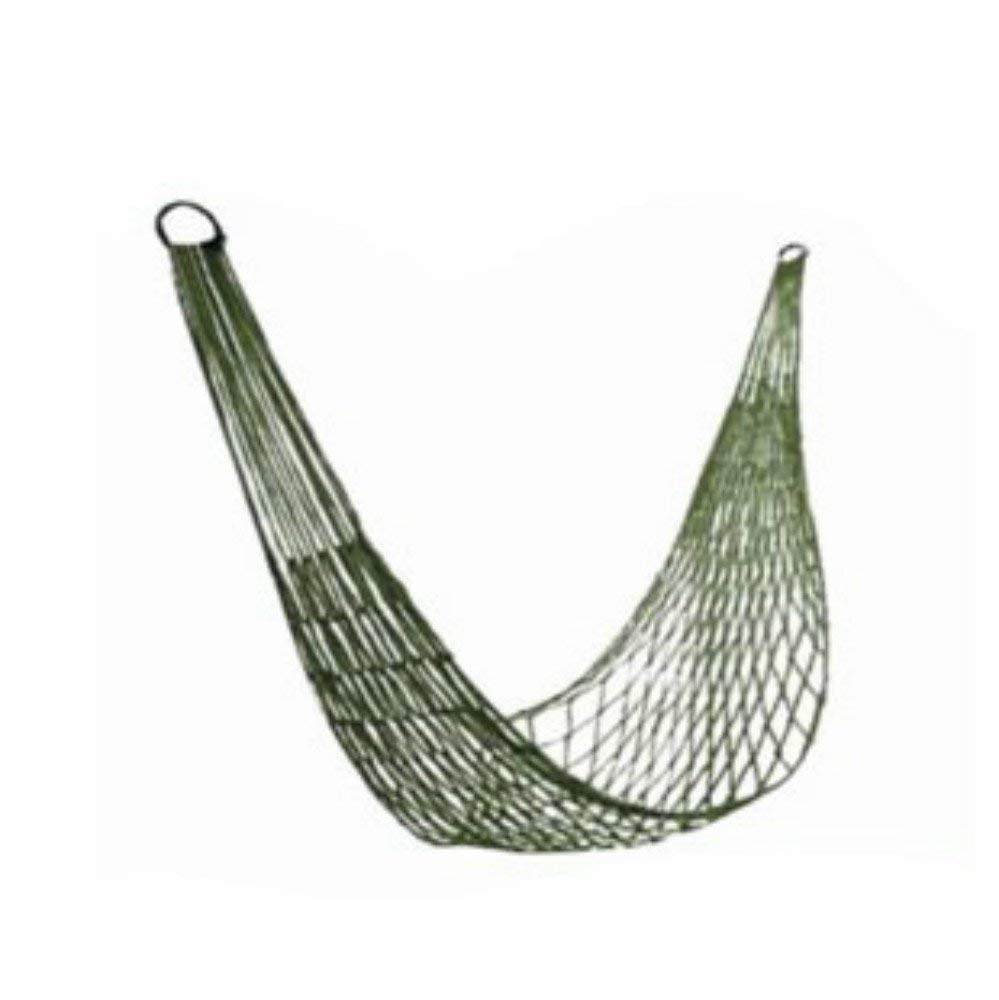 Hanging Chair Swing Chair Outdoor Reinforced Army Green Netted Camping Hammock Rope Single Hammock