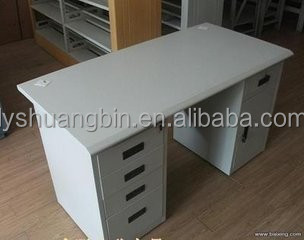 Modern Office Low Price Computer Desk Table White Stainless Steel
