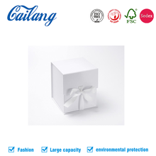 2017 newest customize simple printed small gift packaging book box with ribbon