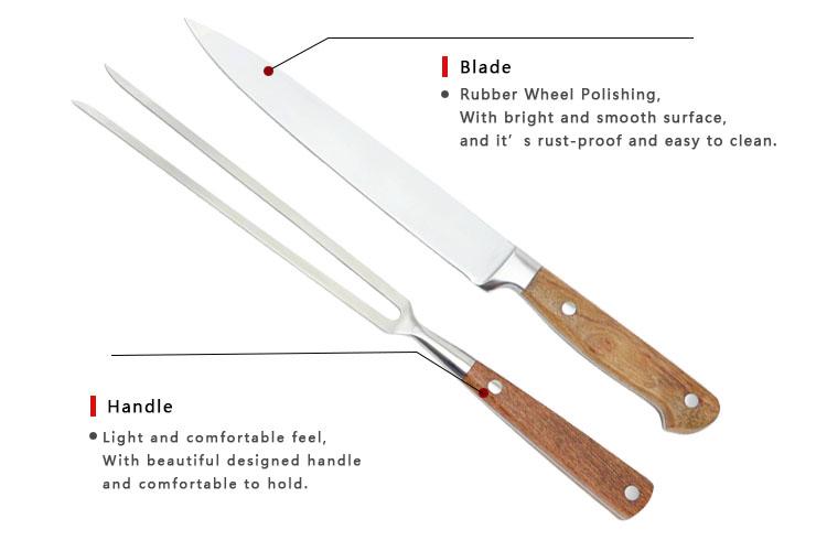 2Pcs Sharp Hard and Thick BBQ Carving Knife Set