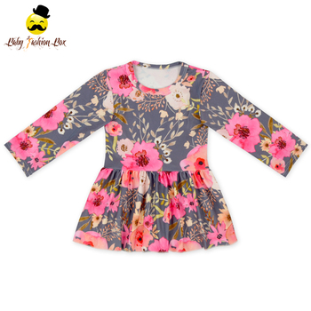 2018 Spring New Designs Girls Clothing Long Sleeve Spring Girls New