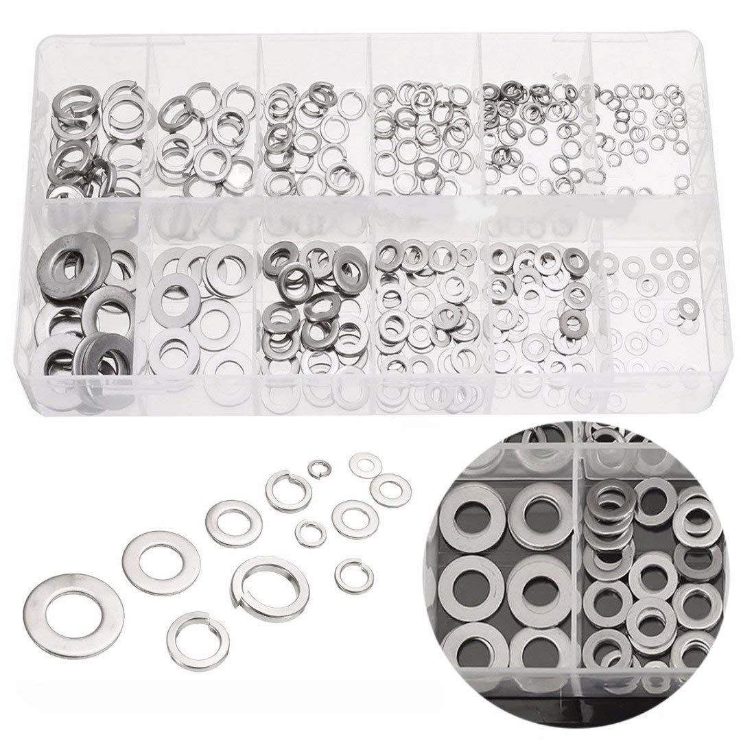 M12 1000 Assorted Metric Zinc Plated Steel Spring Washers Square DIN7980 M3