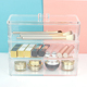Acrylic 3 tiers stackable makeup organizer cosmetic cases plastic storage box with lid
