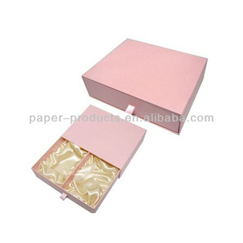 Fancy Pink Sliding Paper Divider Gift Box For Jewelry Perfume With Silk Insert Buy Perfume Packaging Box Luxury Jewelry Gift Boxes With Lid Fancy