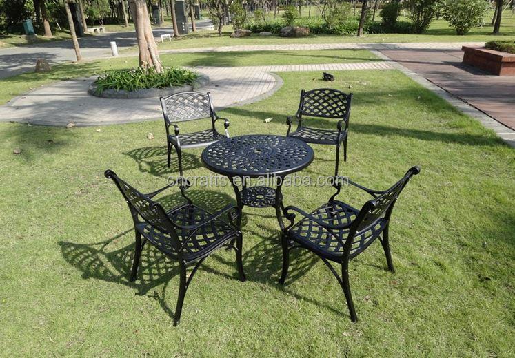 5 Unids Comedor De Aluminio Fundido Muebles De Jardín (ld-009) - Buy ...
