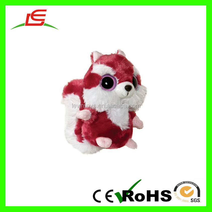 Cute eyes Super Soft Red Plush White Squirrel