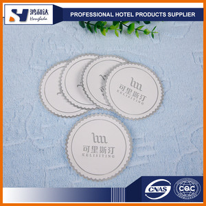 Factory hotel supplies paper cup coaster mat with customer design