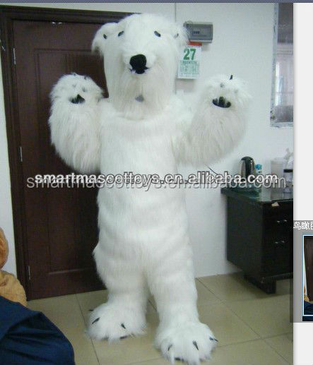 Adult bear costume polar