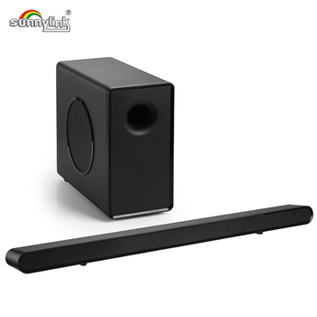 Sunnylink Ultra Slim Home Theater Sound Bar Speaker For Tv With 6 5 Inches Wired Subwoofer