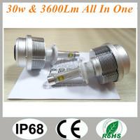 LED Headlight Conversion Kit H7 3600LM ETI LED - replaces Halogen & HID Bulbs