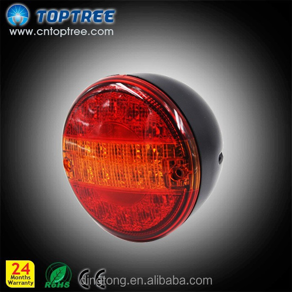 Toptree E-MARK 4 inch round LED Hamburger rear light/lamp Trailer/Van for truck and trailer