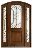 American style luxury carving new design wooden door