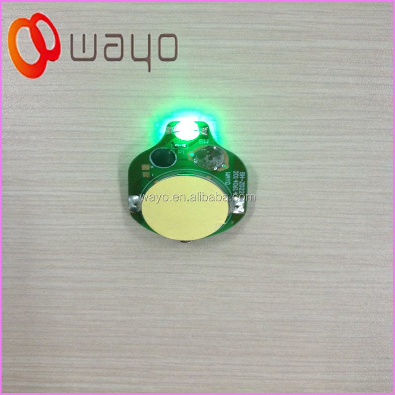 Single Green Color Cr2032 Led Battery Operated Led Lights
