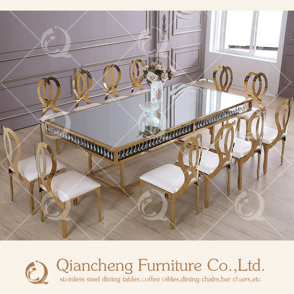 New design mirror glass top center <strong>table</strong> with chair design