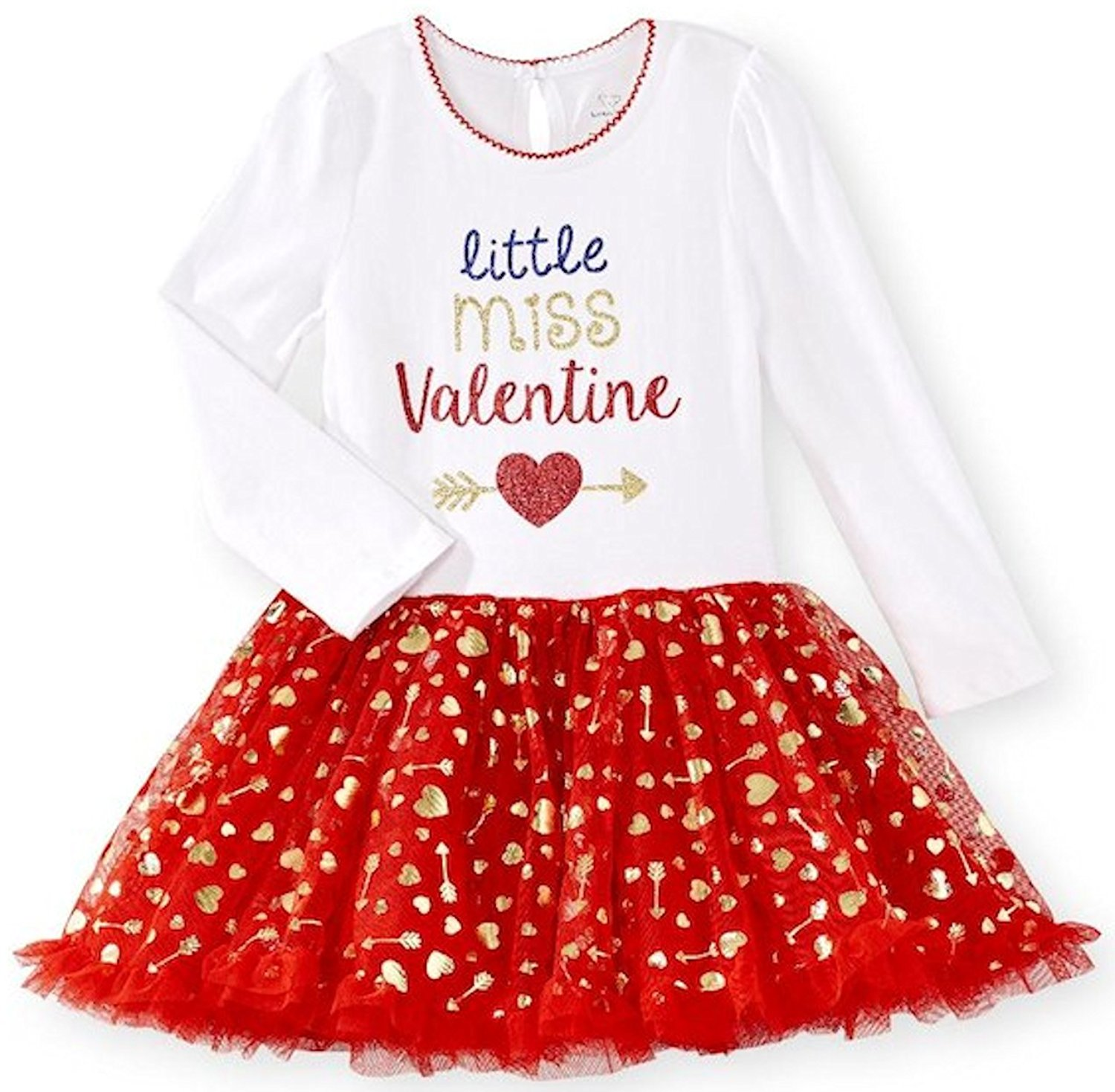 7944744ad446 Get Quotations · Koala Kids Little Miss Valentine Valentine s Day Toddler  Little Girls Heart Tutu Dress
