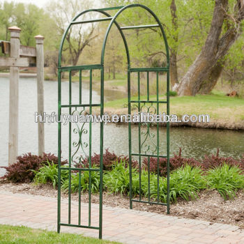 Galvanized And Pvc Coated Garden Arch Wrought Iron Gateand Fence On Sale